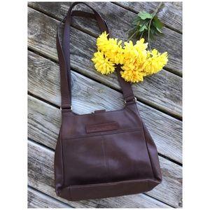 Vintage Fossil Brown Shopper Bag Purse